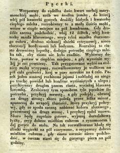 Przepis na pączki z książki kucharskiej wydanej we Lwowie w 1836 r.